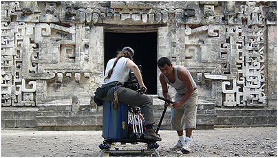 Dolly shot at Chicanná