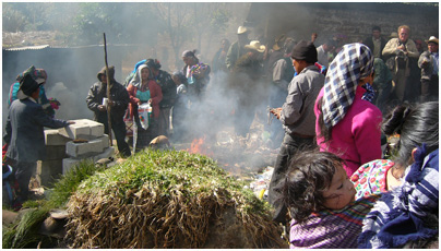 A ceremony at Momostenango, in the Guatemala highlands.
