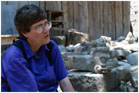 Art Historian Linda Schele. Photo © Justin Kerr
