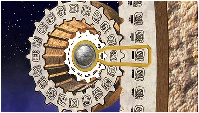 3-D animation of the Maya calendar.