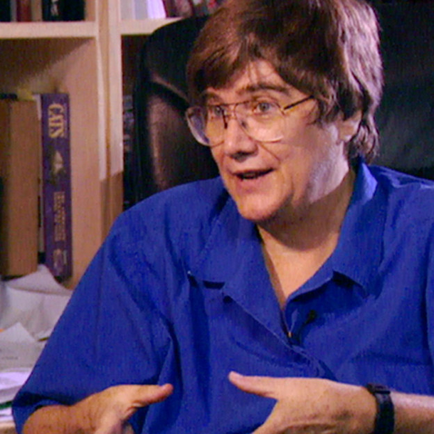 Still of Linda Schele from the interview